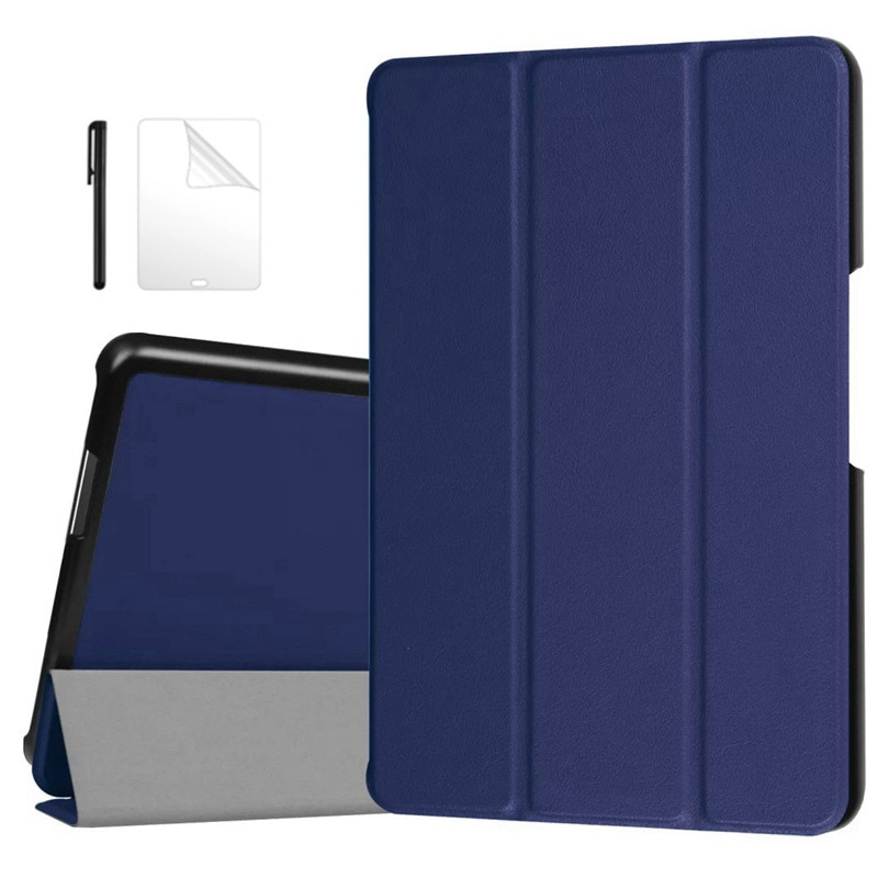 Protecitve Fique PU estojo De Couro Para 2016 Asus Zenpad Z8 7.9 polegada (ZT581KL) cobrir Para Zenpad 3 8.0 Z581KL Tablet Case + flim + Caneta