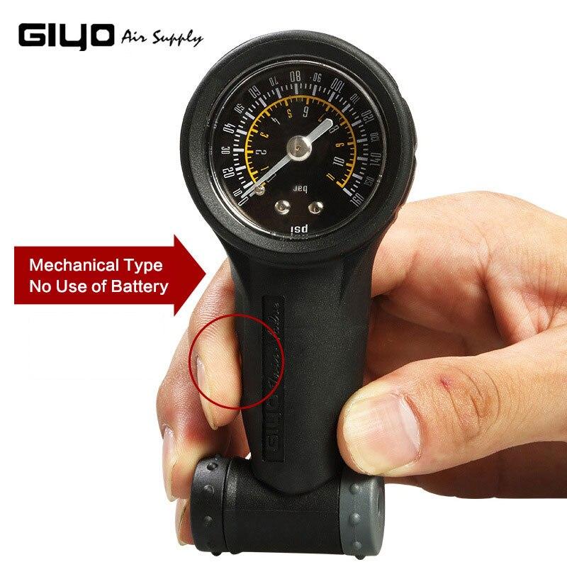 Giyo 160 фунтов/кв. дюйм, датчик давления воздуха в велосипедных шинах, мини, измеритель давления в горной дороге для велосипедных воздушных шин, измерение для клапана Presta/клапана Schrader