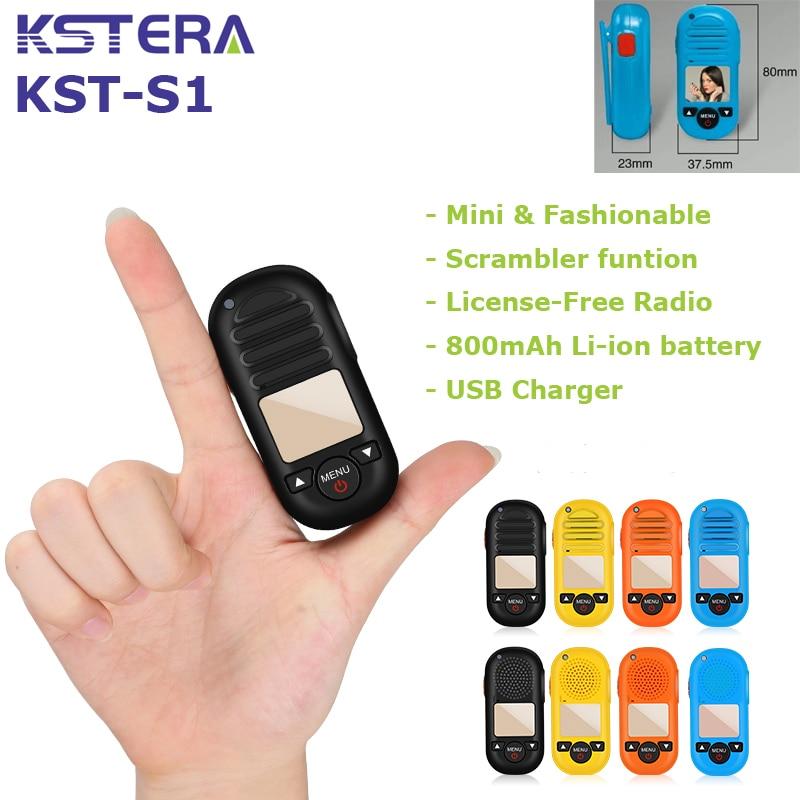 2 pces s1 mini tamanho pmr446 licença livre walkie talkie frs gmrs rádio com 16 canais crianças walkie talkie com 800mah li-ion bateria