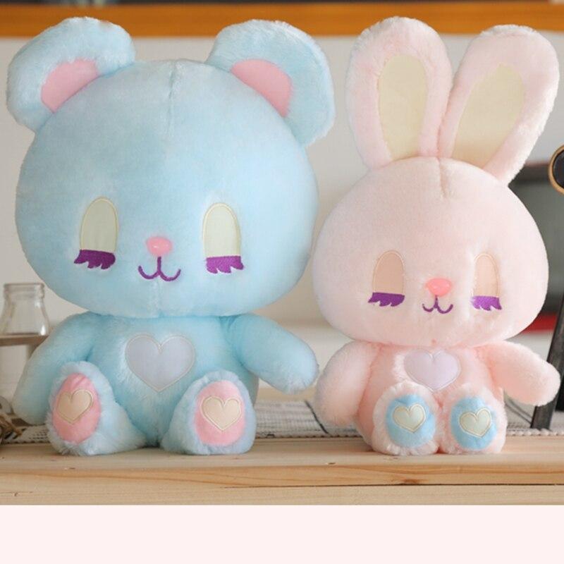 Longa lash coelho menina brinquedo de pelúcia bonito animais de pelúcia longo orelha coelho e urso menina grande abraço brinquedos para crianças aniversário presente natal