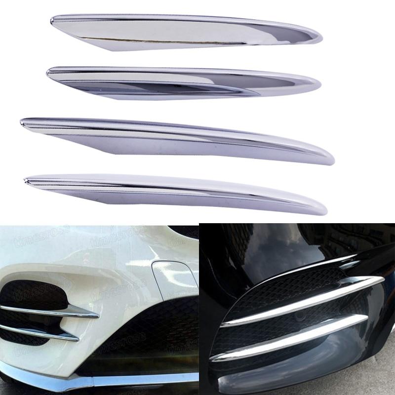 Hsaanzeo, faro antiniebla delantero cromado para coche, pegatina de cubierta ABS, tira de ajuste para Mercedes Benz GLC Coupe clase X205 X253 2016 2017