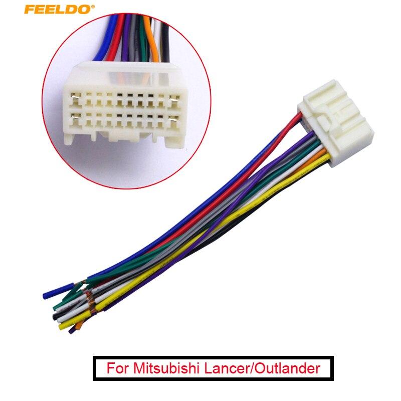 Автомобильный радиоприемник FEELDO, 1 шт., аудио CD адаптер для электропроводки Mitsubishi Lancer/Outlander/Mirage Toyota Crown/Land Cruiser/Prado