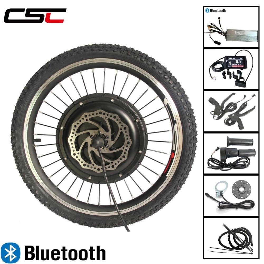 Bluetooth LCD8 pantalla 48V 1000W frente rueda de Motor Kit de conversión de bicicleta eléctrica para 20 24 26 27,5 28 29 pulgadas 700C Ebike
