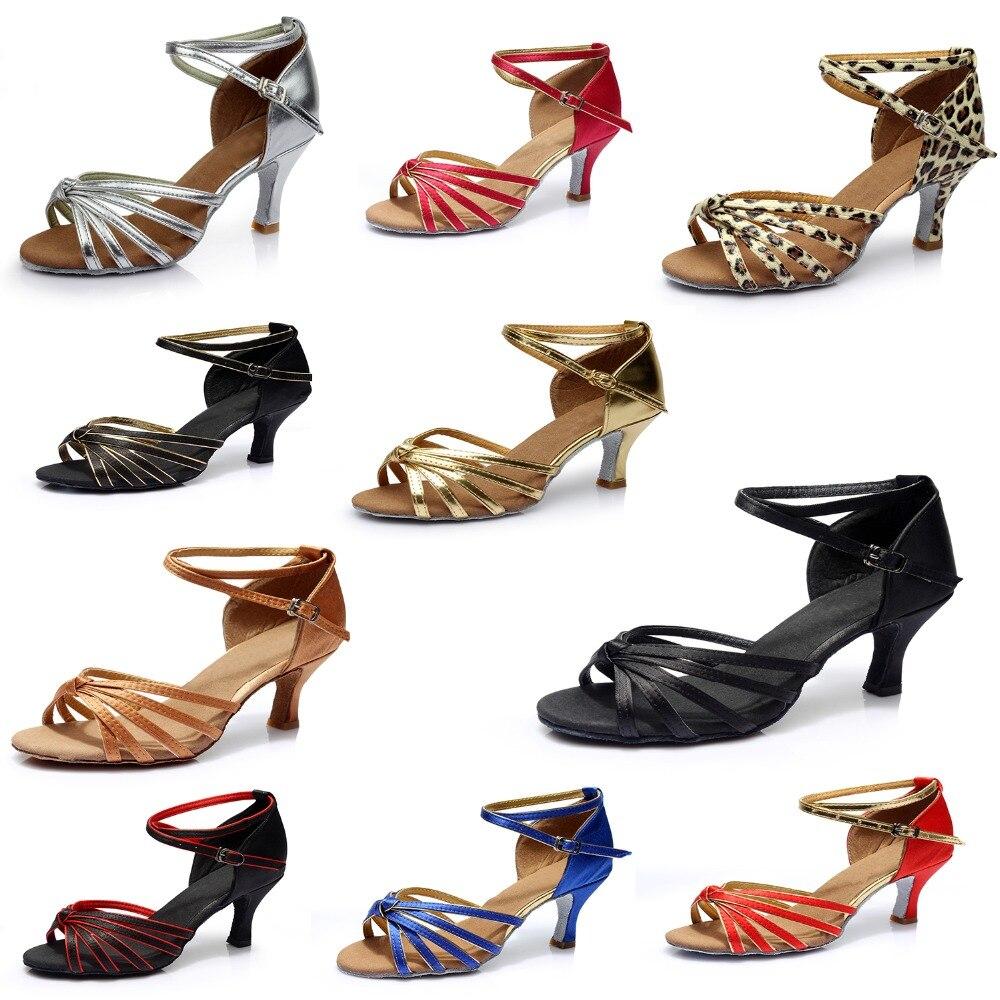 Woman Salsa Latin Shoes Latin Dance Shoes Tango Ballroom Salsa Dance Shoes Dance Sneakers High Heel 5cm A02G-1