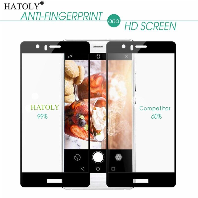 1 Uds cristal templado Huawei P9 Protector de pantalla Huawei P9 funda completa para Huawei P9 EVA-L09 EVA L19 3D película de borde curvado HATOLY