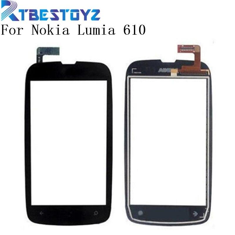 RTBESTOYZ 3,7 ''para Nokia Lumia 610 N610 Digitalizador de pantalla táctil Lente...