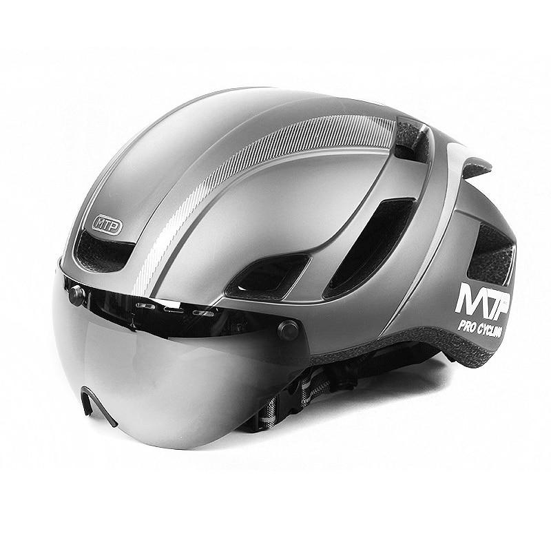Mountainpeak-casco y lentes magnéticos de succión, para ciclismo, integrados en bicicletas de montaña, equipo de seguridad para ciclismo