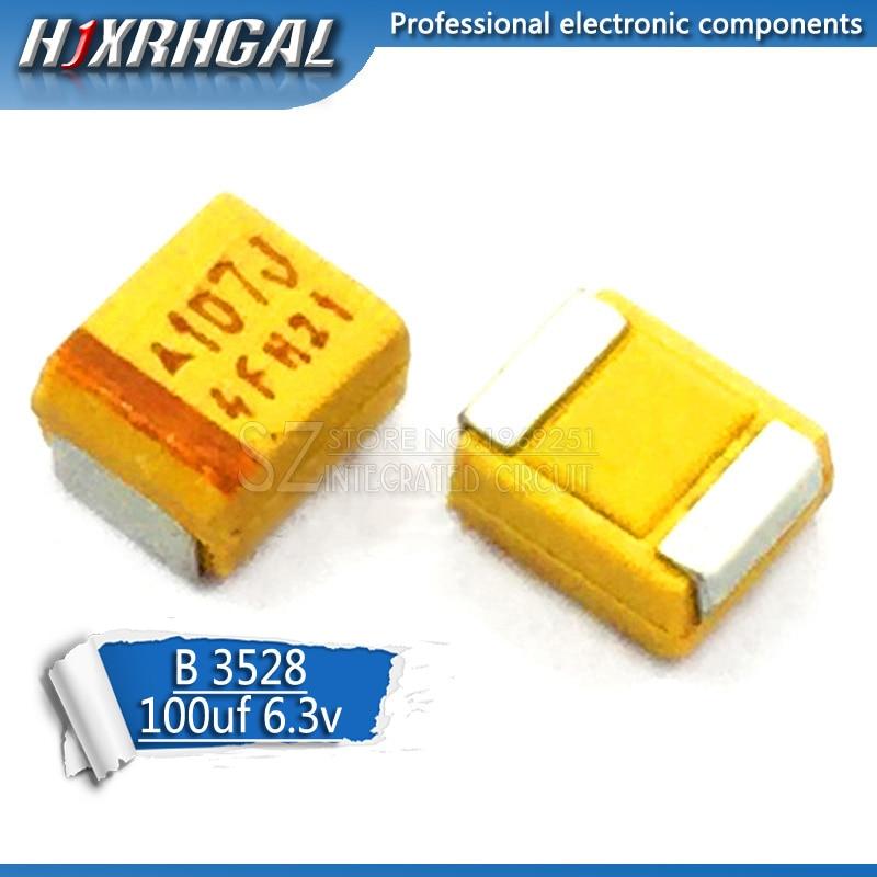 10 Uds. B 3528 100uF 6,3 V 107 SMD condensador de tantalio hjxrhgal