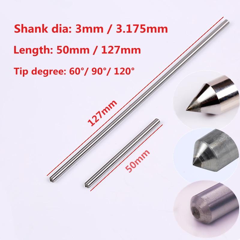10 unids/lote arrastrar grabado poco dremel grabador 3mm y 3.175mm grabado de diamantes bits
