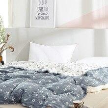Junwell-couverture de canapé lit en mousseline   100% coton, couverture respirable à motif de trèfle, couverture de grande dimension et douce, à jeter, Para