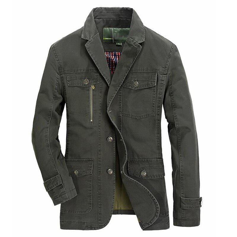 Moda hombre chaqueta primavera otoño algodón negocio abrigo vestido Casual para hombre color sólido rompevientos masculino prendas de vestir exteriores de talla grande M-5XL