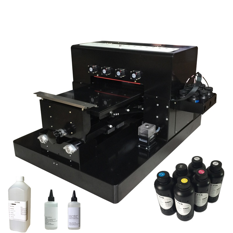 Impresora UV tamaño A3 de 8 colores mejorada con cabezal de impresión DX5 A3 impresora UV de base plana para funda de teléfono impresora acrílica con tinta UV
