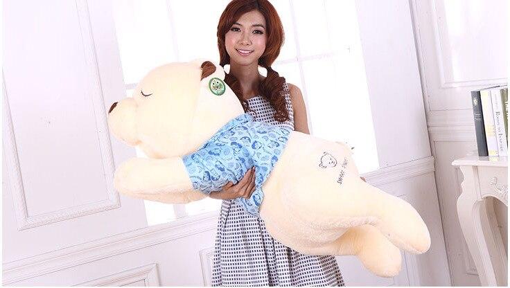 Brinquedo de pelúcia, enorme 130 cm propenso urso de pelúcia brinquedo de pelúcia, urso travesseiro para dormir, jogar travesseiro, presente de aniversário d668