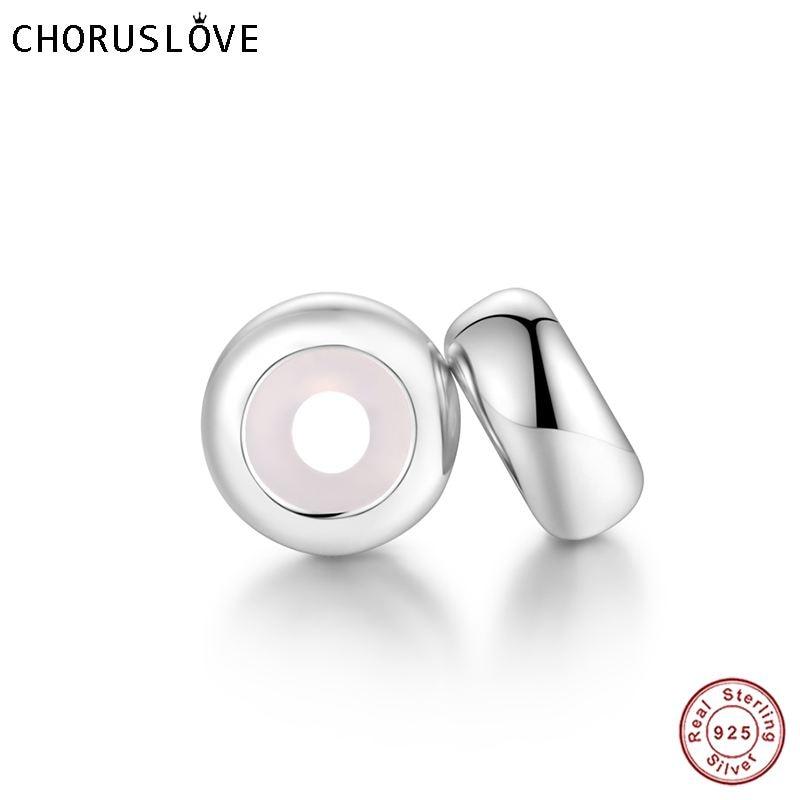 Choruslove Authentic 925 Sterling Silver Rubber Stopper Beads Promotional Wholesale fit Pandora Original Charms Bracelet SS2016