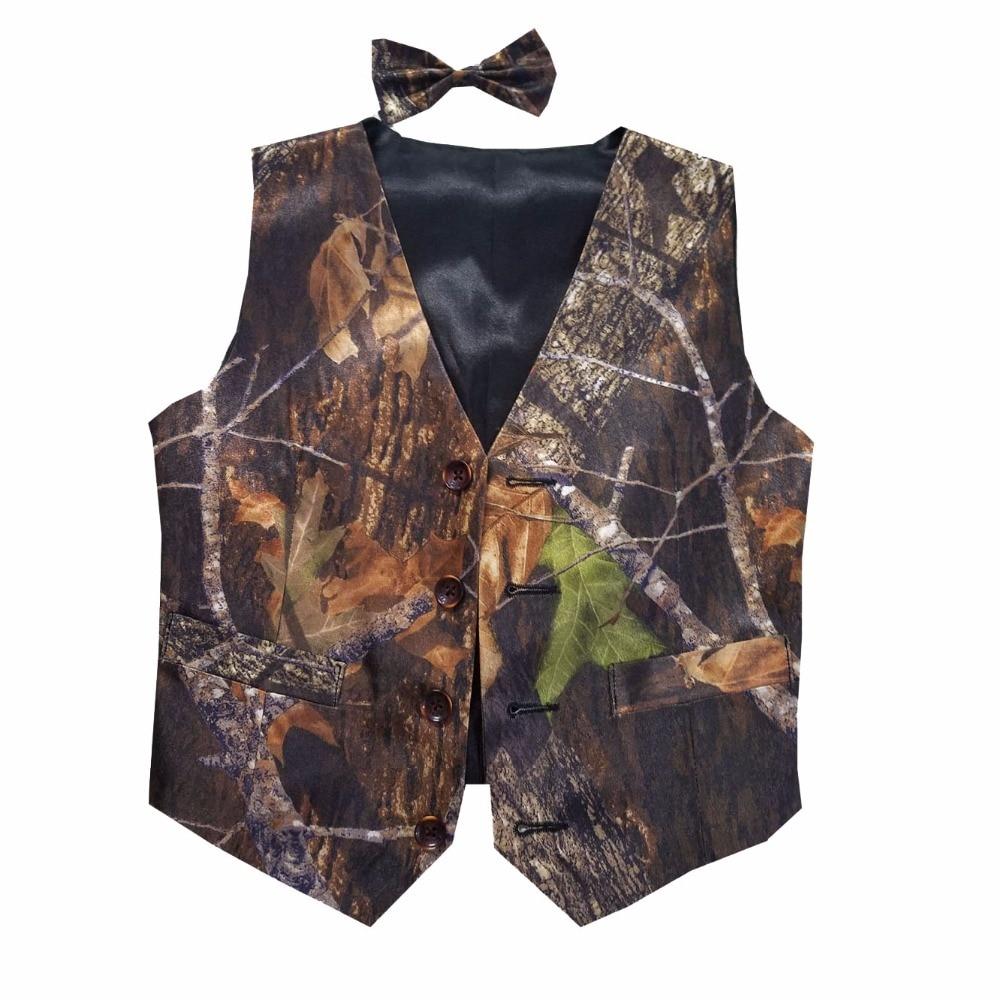 Chaleco de camuflaje para niños, chaleco formal de camuflaje para boda, envío gratis