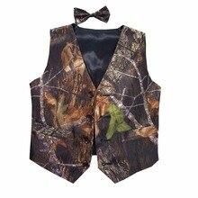 boys camouflage tuxedo vests kids camo formal vest for wedding custom make free shipping