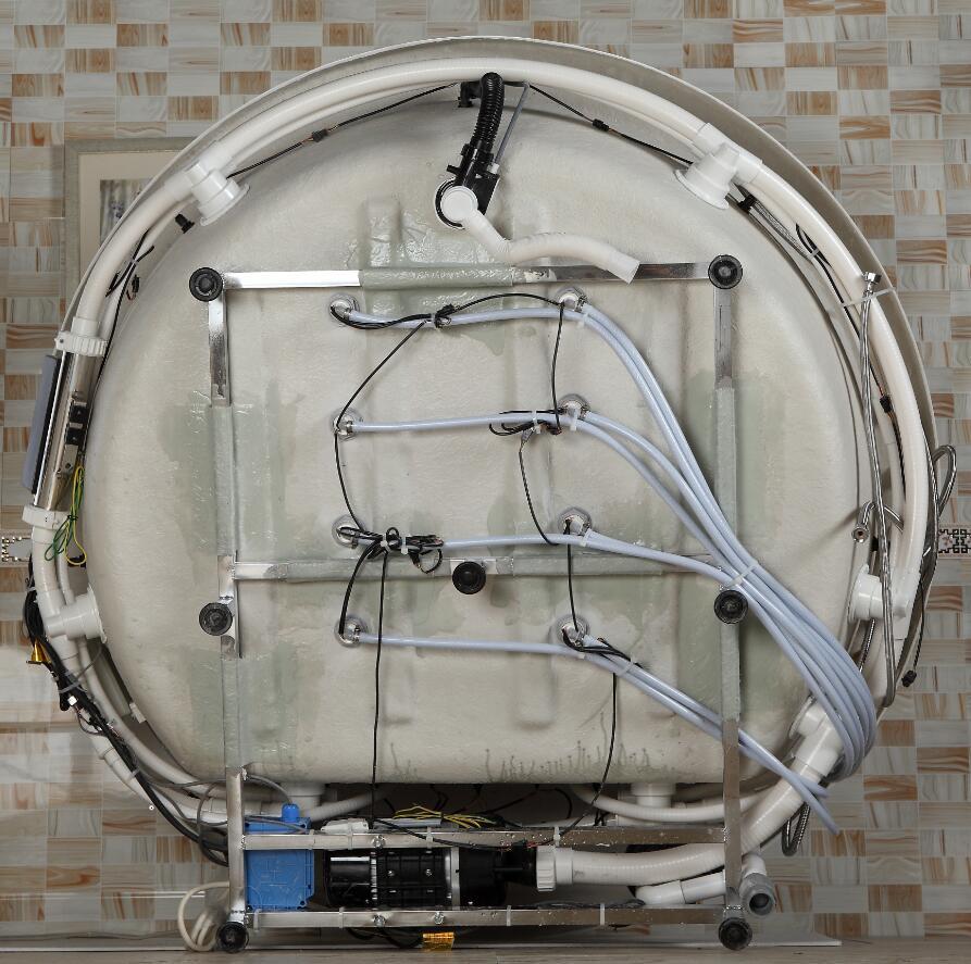 1500mm Round Whirlpool Bathtub Acrylic Hydromassage Waterfall Double People Tub NS1106