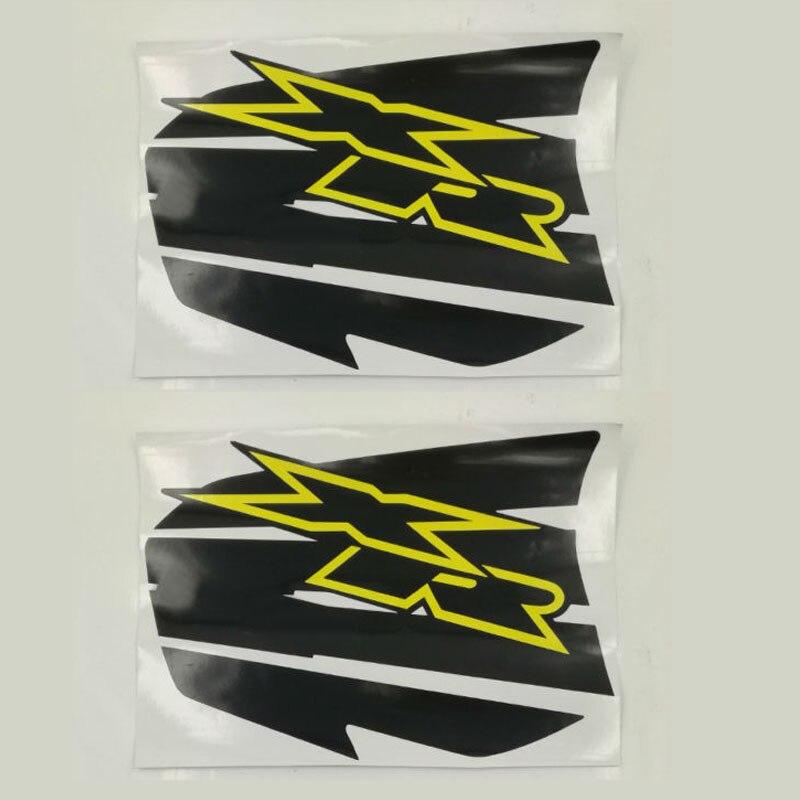 Motocicleta Applique Decalques Tanque De Gás Adesivo Etiquetas Etiqueta Paster Colar Pad Set Para Honda XR Modelos Motocross Pit Dirt Bikes