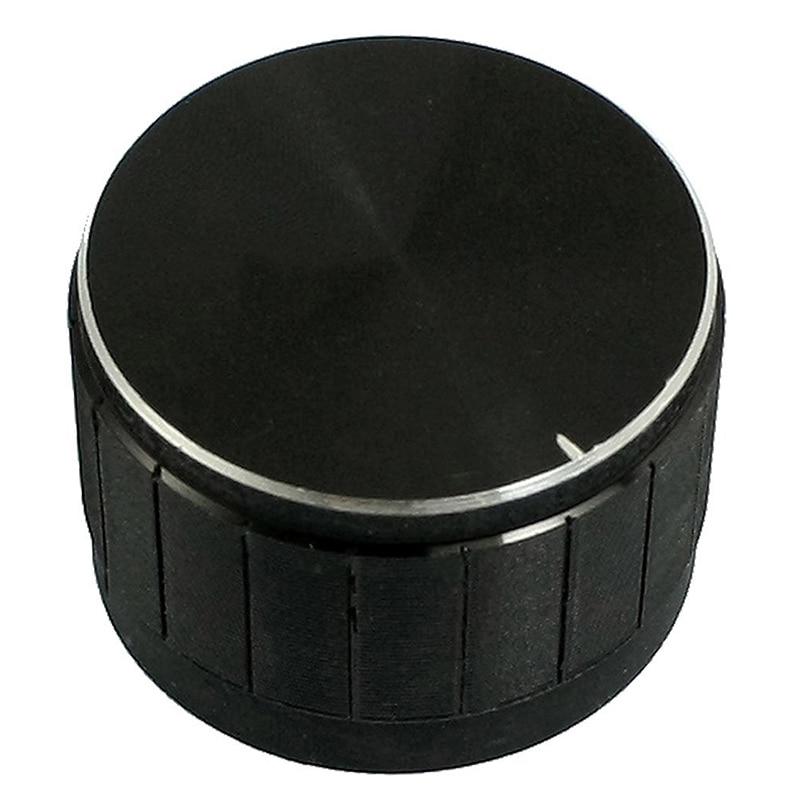 Pomo de aleación de aluminio para control de volumen, 23x17mm, negro