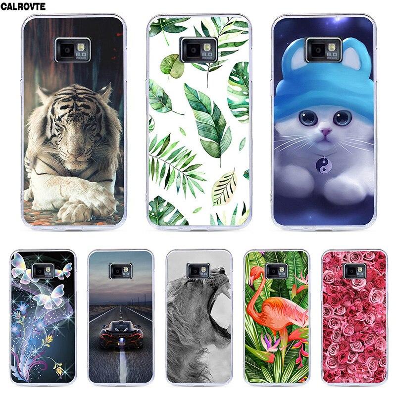 Funda para Samsung Galaxy S 2 S2 SII i9100/S2 Plus i9105 suave funda de silicona pintura TPU estampado colorido carcasa trasera