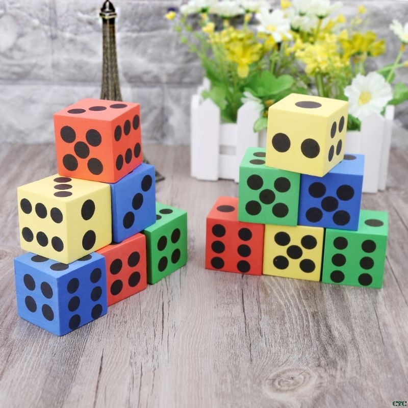 6 шт., математические игрушки, гигантская пена EVA, игральные кости, детские развивающие игрушки, вечерние игральные кубики