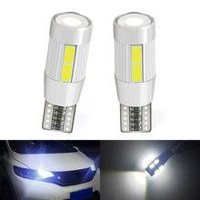 2 pces carro branco/verde/vermelho/azul substituições de automóveis 5630 10smd led w5w 194 t10 lâmpadas