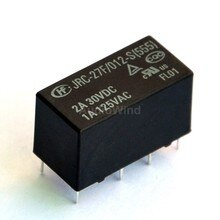 (100 pcs/lot) relais de Signal, 12 V, 2 forme C (DPDT), 120 V/1Amp