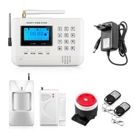 Systeme dalarme de securite domestique sans fil  GSM  voix russe anglaise  double antenne  avec detecteur PIR  stock en russie