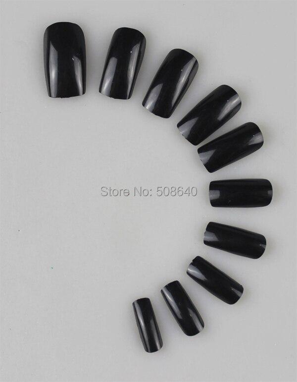Unhas falsas capa completa preto falso ongles unhas postica dicas acrílico unha ferramentas da arte do prego artificiais falso unghie finte ponta de gel
