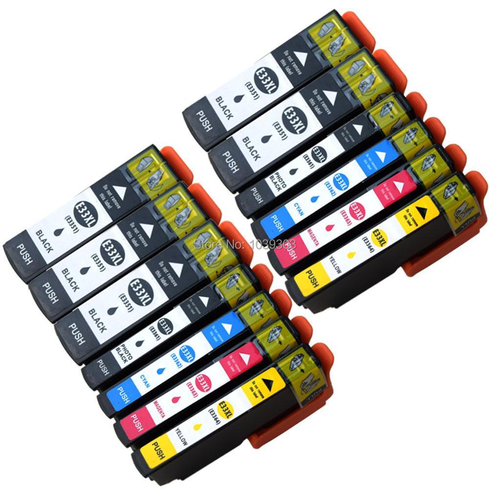 13 Combo Set Chip de Cartuchos de Tinta Compatíveis Para Impressoras Epson Expression XP-635 T33XL T3357 T3357 T3351 T3361 T3362 T3363 T3364