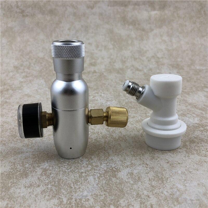 "Novo regulador de co2 barril carregador 0-60 psi com bola bloqueio gás disregulator mini regulador co2, 3/8 ""rosca co2"