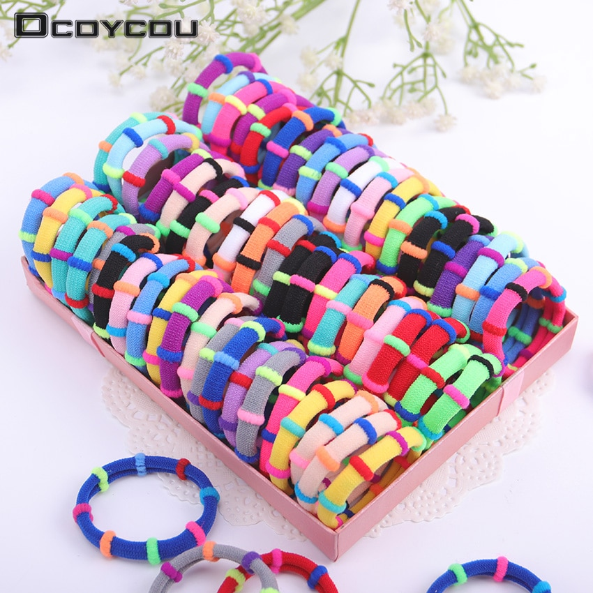 20PCS Candy Color Elastic Headband Hair Rope Rubber Bands Scrunchy Hair Accessories Gum for Girl Kid Ponytail 2021 hair accessories for women rubber bands rope scrunchy elastic hair bands girls headband decorations ties gum for hair