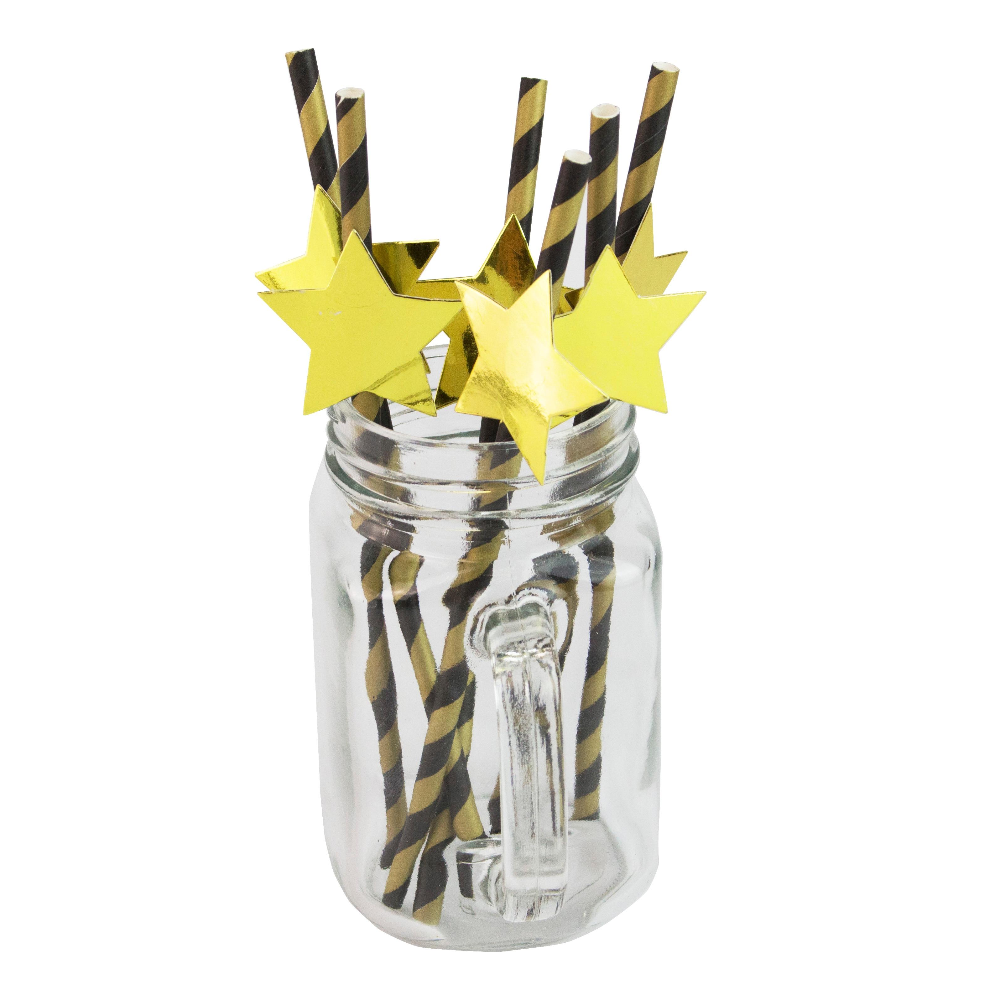 Envío Gratis 10000 Uds negro Superstar rayas pajitas de papel estrella pajita lol sorpresas fiesta