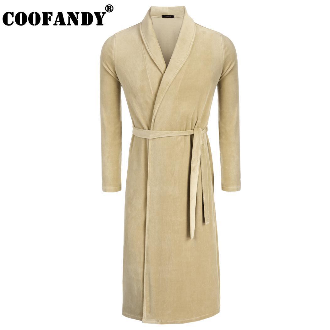 Для мужчин регулируемый халат серый синий белый твердые длинным поясом  кимоно