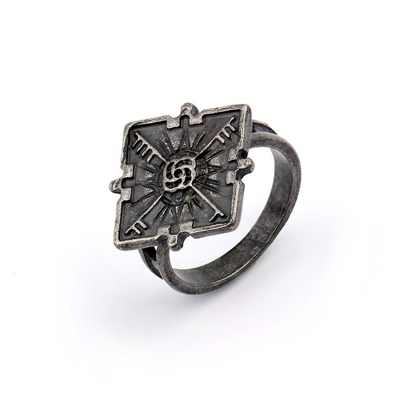 Anillos Vintage 2 anillas deshonrosas Emily anillo para Cosplay para hombre mujer bijoux Hip Hop Anillos para hombre anillo geométrico Bague