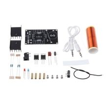 Mini musique Tesla bobine Plasma haut-parleur Tesla sans fil Transmission bricolage bobine Kit