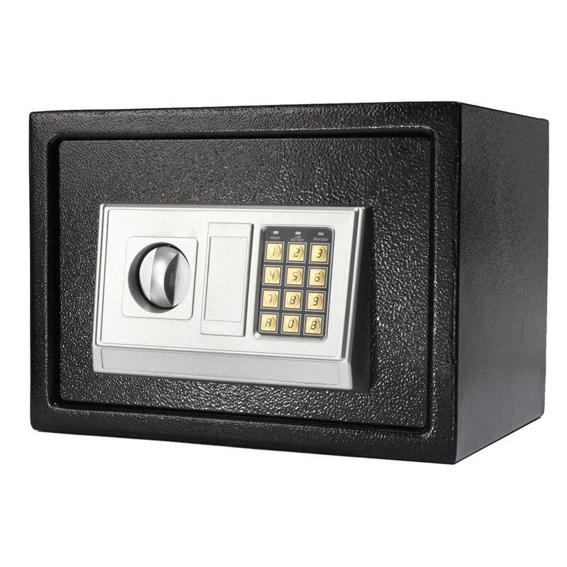 ¡Novedad! cerradura Digital de acero negro con código electrónico caja de seguridad para oficina en casa + llave de anulación