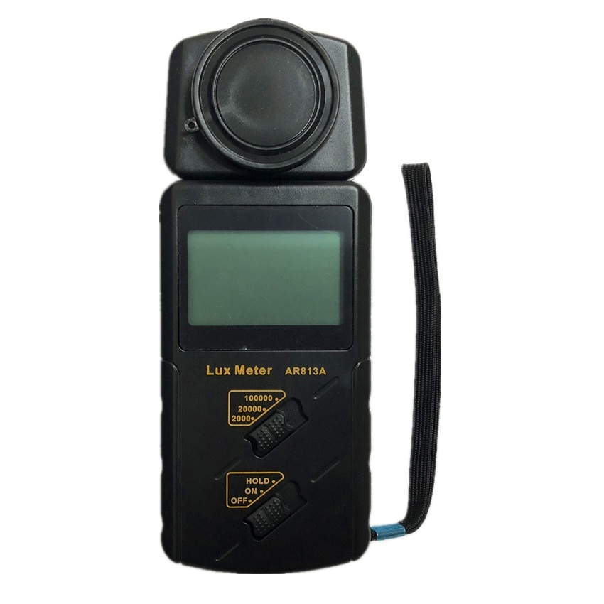 SMART SENSOR AR813A Handheld LCD Screen Digital Lux Meter Luxmeter Illuminometer Light Meter Measuring Range: 1~100.000lux
