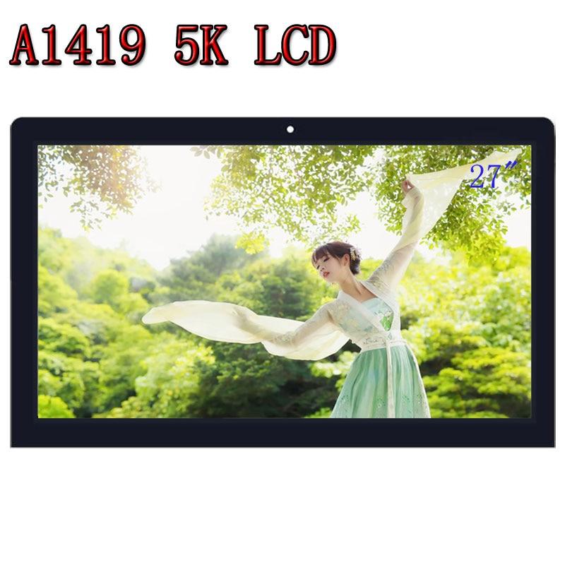 "Original nuevo 27 ""LM270QQ1 SD A2 A1419 5K Retina LCD pantalla con montaje de vidrio para iMac late 2014 Mid 2015 MF885 MF886 EMC 2806"
