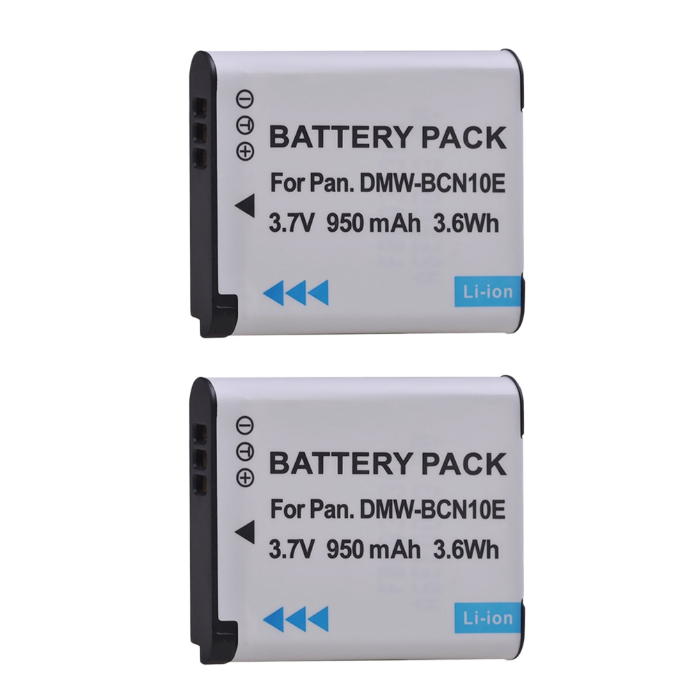 PowerTrust 2 uds 950mAh DMW-BCN10E DMW-BCN10 BCN10 BCN10E batería de repuesto para la batería de la Panasonic Lumix DMC-LF1 DMC LF1... DMC-LF1W LF1K