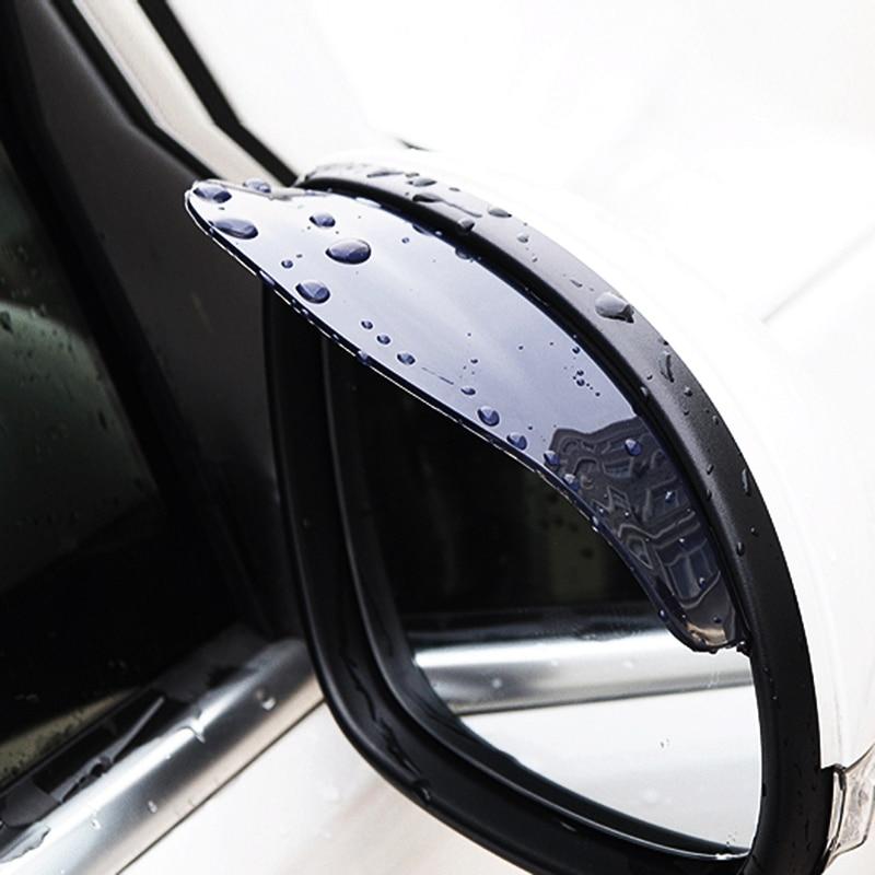 2 uds., estilo de coche, protector de espejo trasero Flexible para coche, protector de espejo retrovisor, sombra de lluvia para Auto, ceja a prueba de lluvia para Ford