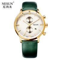 Nesun Men's Watches Brand Luxury Japan Import Quartz movement Watch Men Chronograph Wrist clock Waterproof reloj hombre N8601-4