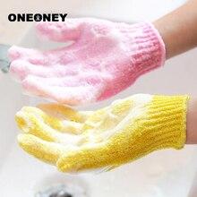 ONEONEY 1pc Clean Shower Glove Sponge Foam Shower Scrub Gloves Body Clear Peeling Exfoliating Skin SPA Bath Baby Wash Tools