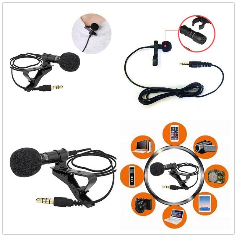 Micrófono con clavija Lavalier de 3,5mm, Mini micrófono para hablar, conferencias, Cable...