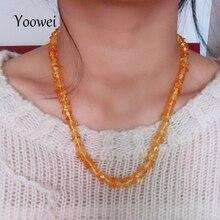 Yoowei, collar de pulsera de ámbar Irregular para mujer, cuentas naturales de moda para mujer, cuentas personalizadas de ámbar báltico, joyería al por mayor
