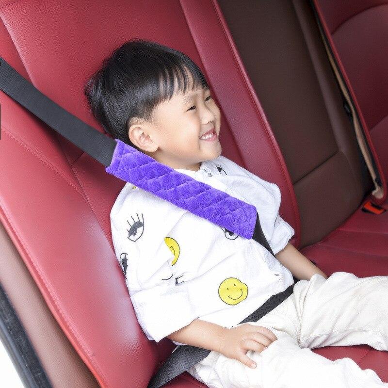 Cinto de selim de carro acolchoado, cinto de assento confortável para carro, pelúcia macia, faixa de selim de carro, 1 peça estilizador