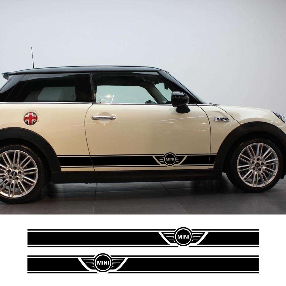 2pcs Car Long Side Stripe Sticker For Mini Cooper R56 R57 R58 R50 R52 R53 R59 R61 Countryman R60 F60 F55 F56 F54 DIY Accessories