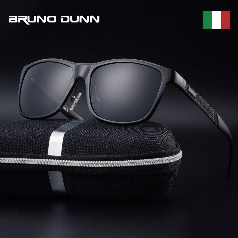 Bruno dunn óculos de sol polarizados 2020 marca luxo quadrado metal quadro masculino óculos sol masculino 2140 ray uv400