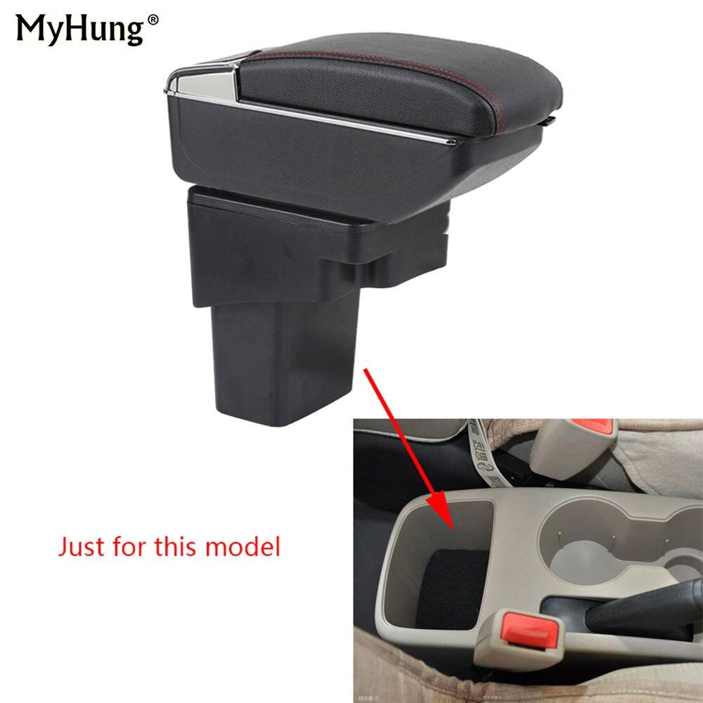 Para Hyundai Solaris Verna gran avega reposabrazos caja compartimento para apoyabrazos central coche caja con taza de titular con la subida y función