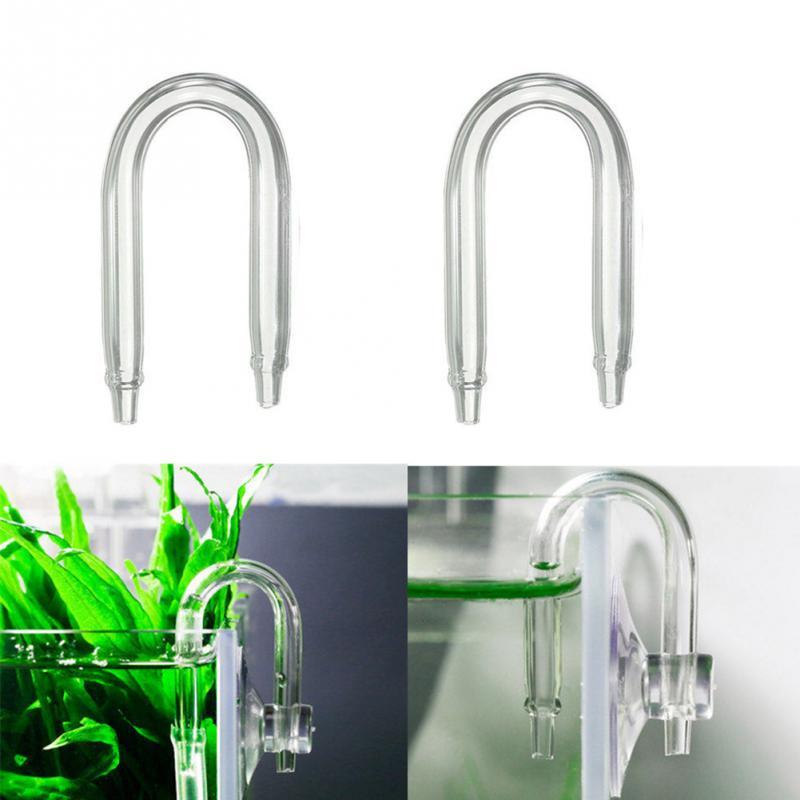 U Shaped Transparent Bend Glass Tube Fish Tank Tube for Aquarium Co2 Diffuser CO2 Equipment Connector Aquarium Accessories
